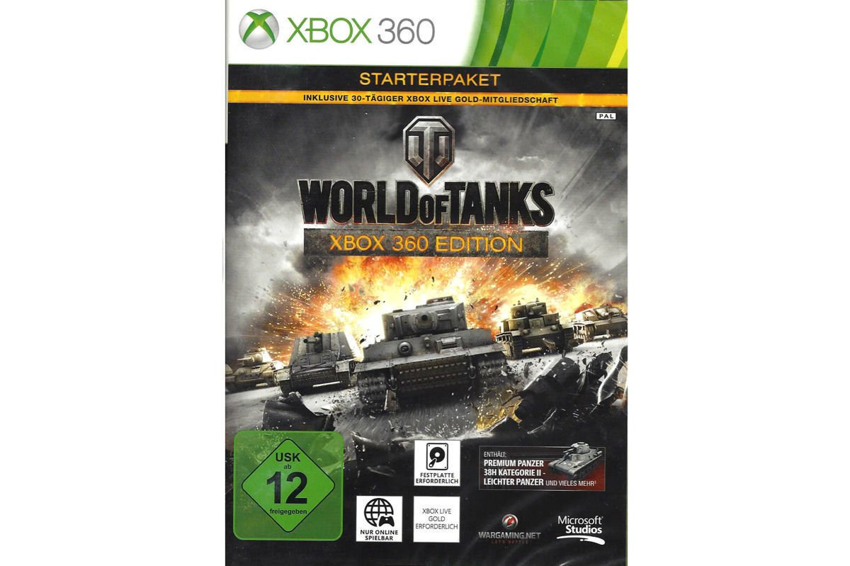 Gra World of Tanks WOT Xbox 360 Edition FOLIA