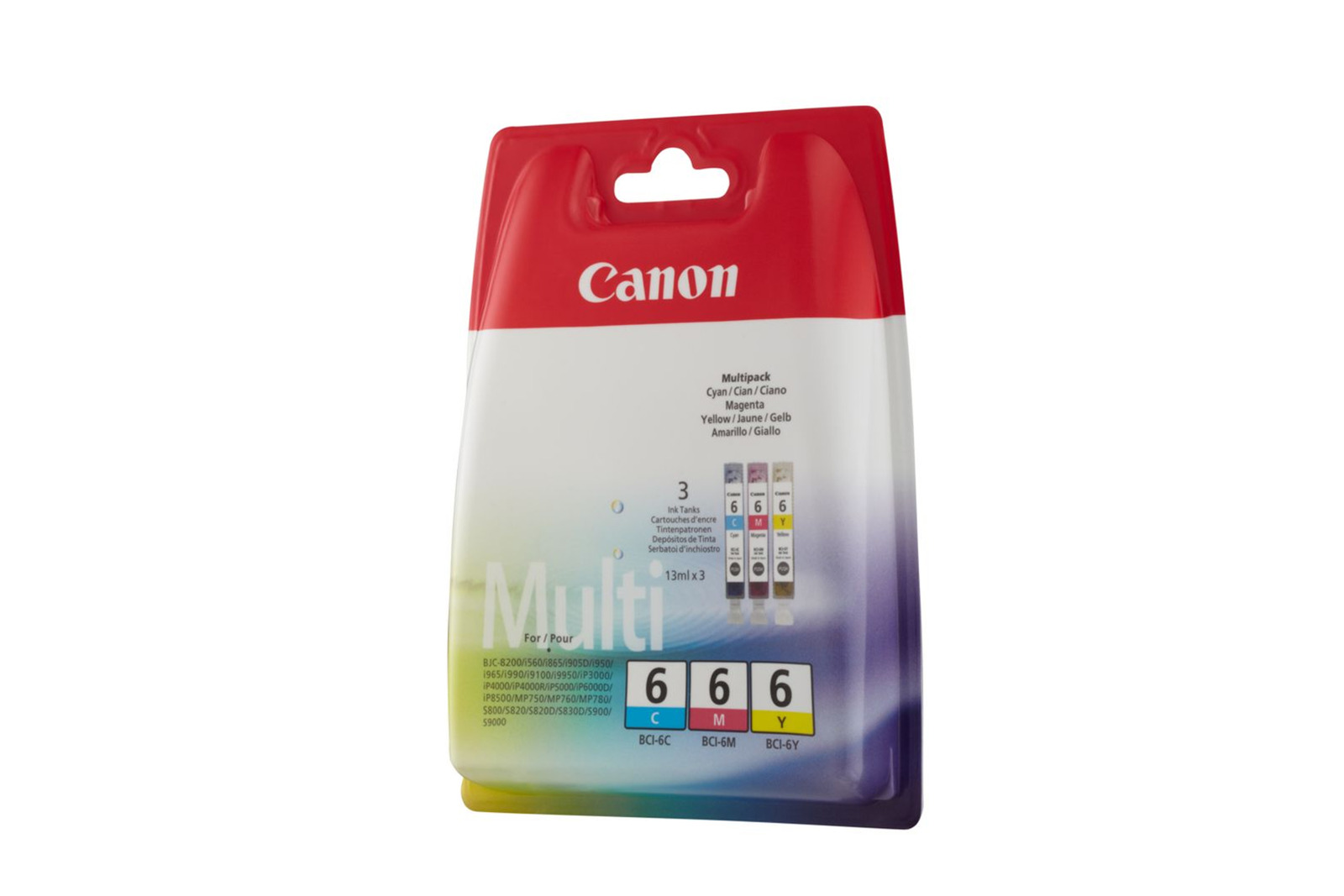Genuine Ink Cartridge Canon BCI-6 Multipack Multipack CMY