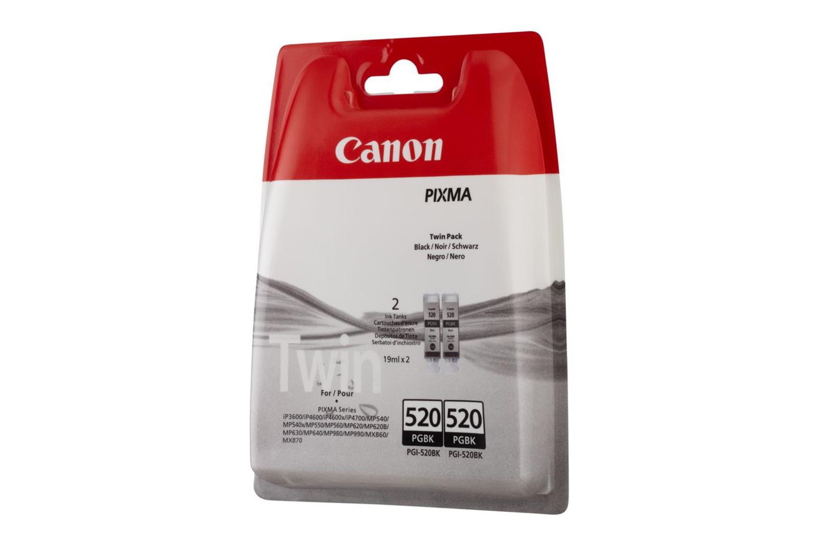 Genuine Ink Cartridge Canon Twin PGI-520BK Black