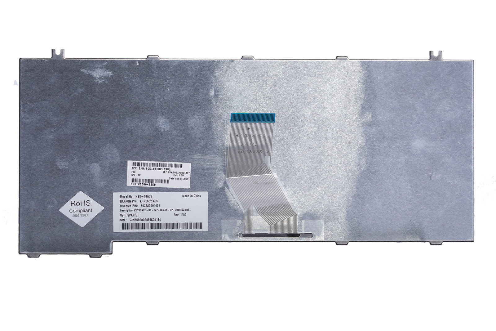 Keyboard Toshiba 9J.N5682.A0S (Spanish)