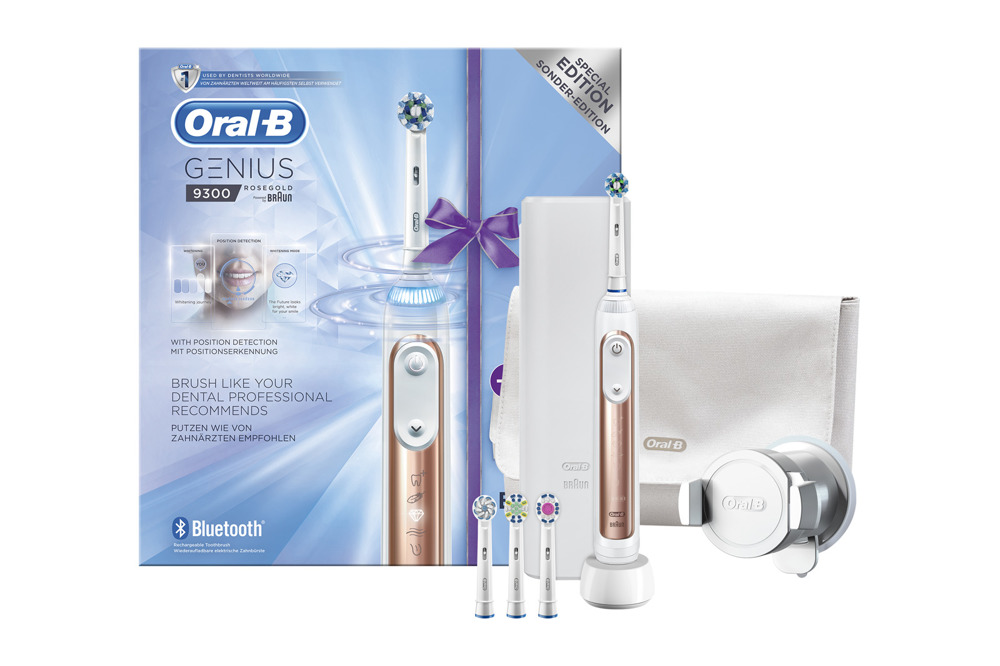 New Braun Oral-B Toothbrush Genius 9300 9000 Rose Gold Special Edition Set