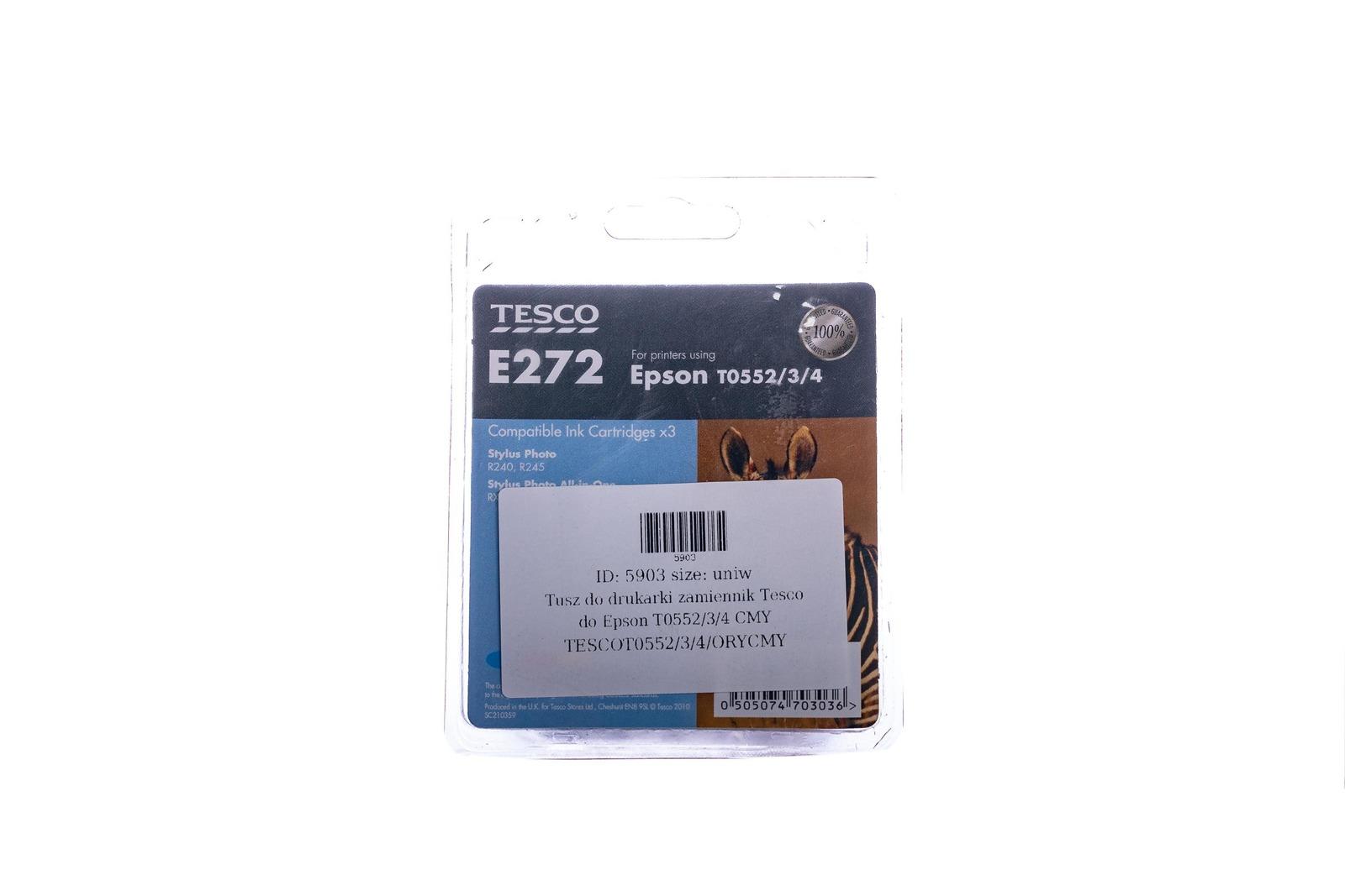 Remanufactured Ink cartridge Tesco Epson T0552/3/4 CMY