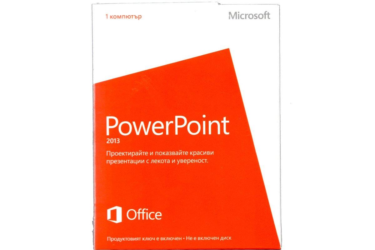 Neu OVP Microsoft Powerpoint 2013 079-05878 bulgarische Medialess Eurozone