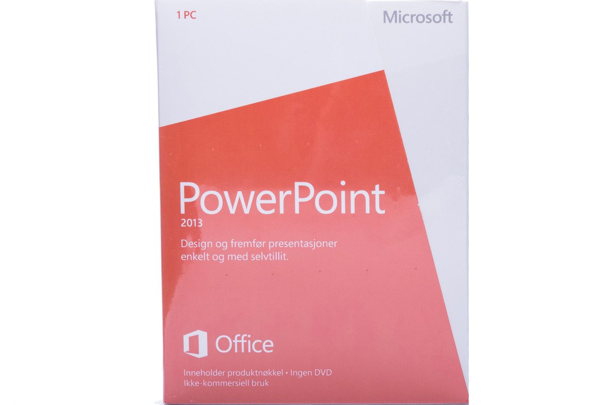 Neu OVP Microsoft Powerpoint 2013 079-05951 Norwegian Medialess NonCommercial