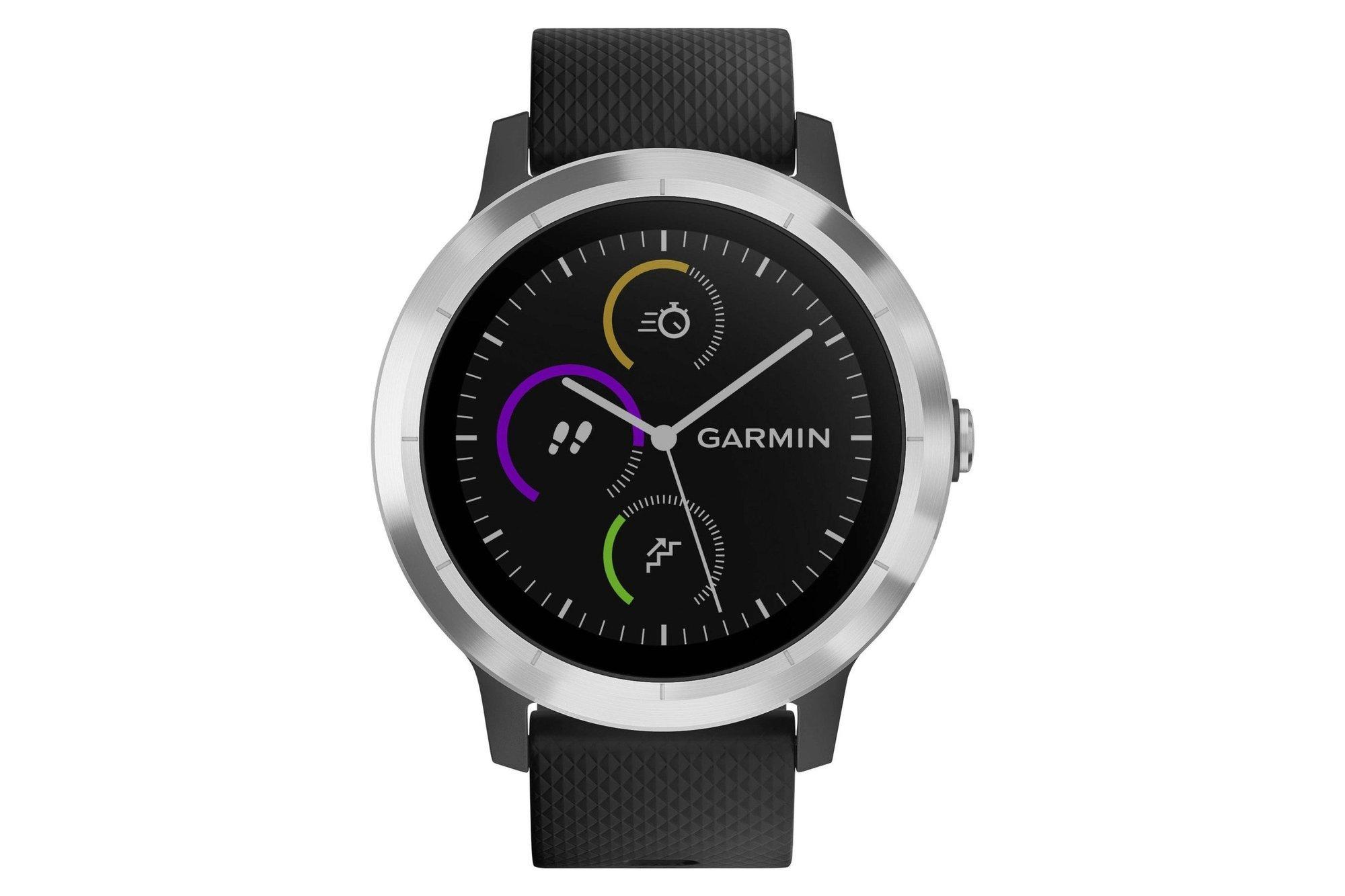 Smartwatch GPS Sportuhr Garmin Vivoactive 3 Silber / Schwarz