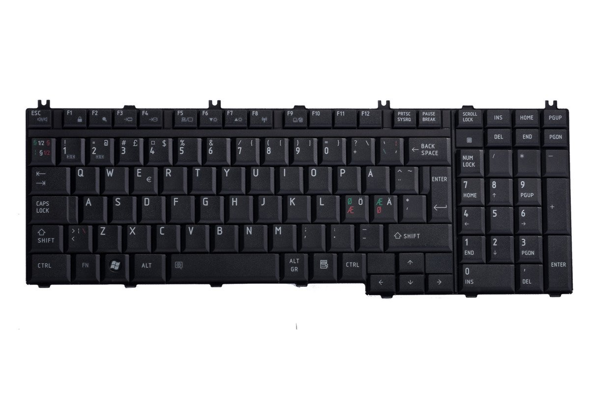 Tastatur Toshiba MP-06876DN-920 (Norwegisch)