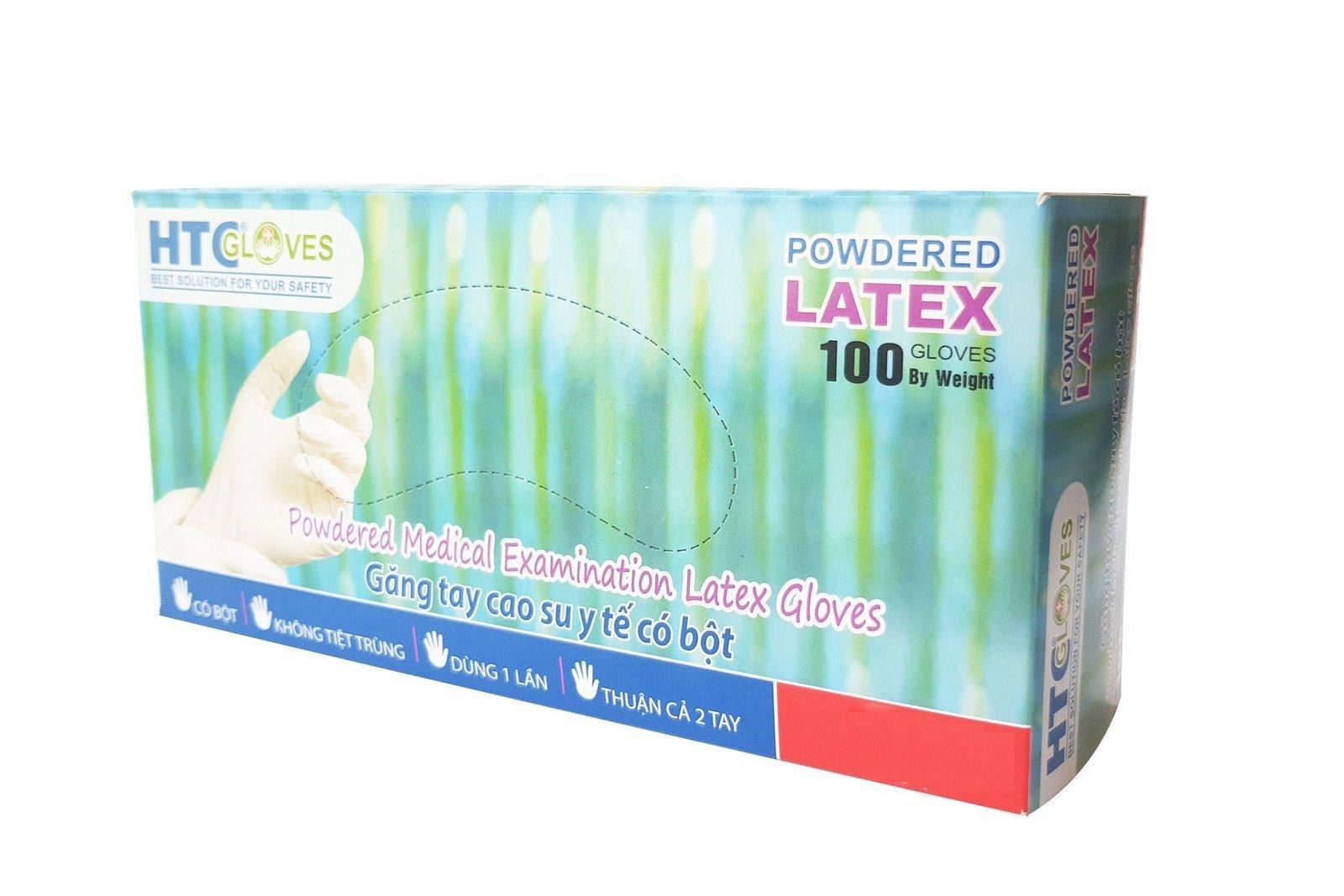 HTCGloves Medical Handschuhe Latex Pulver Größe S 100 Stck