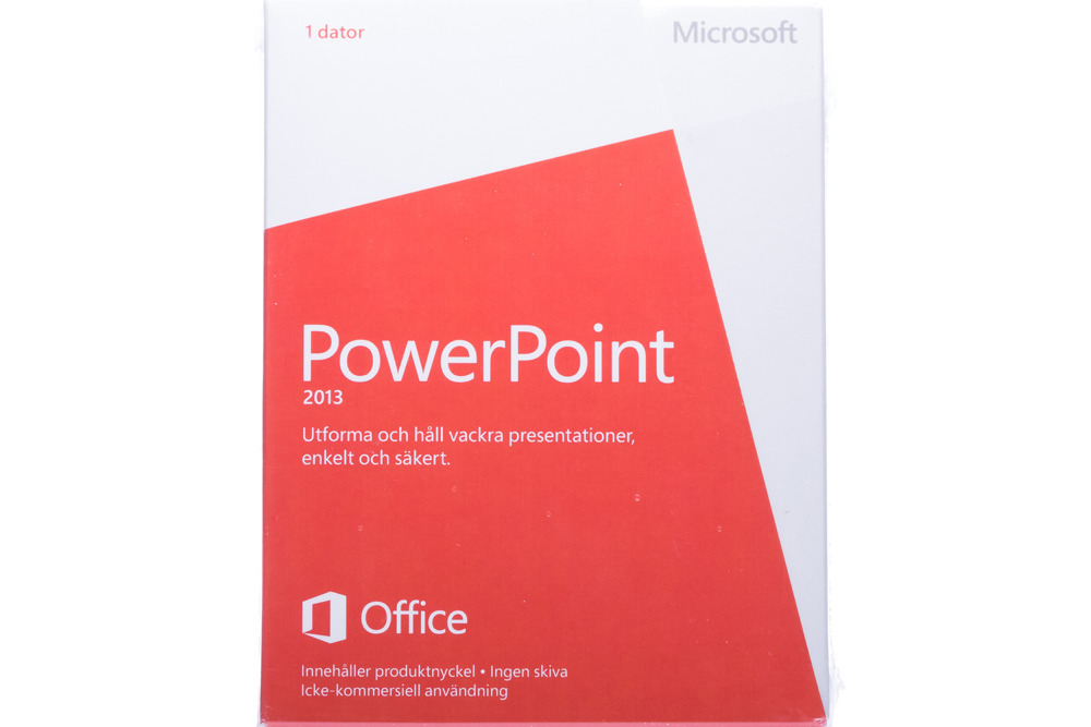 Neu OVP Microsoft Powerpoint 2013 079-05961 Swedish Medialess NonCommercial