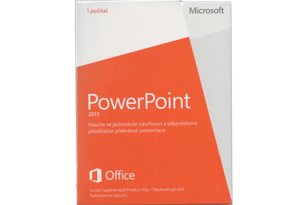 Neu OVP Microsoft Powerpoint 2013 Medialess NonCommercial 079-05933 Eurozone
