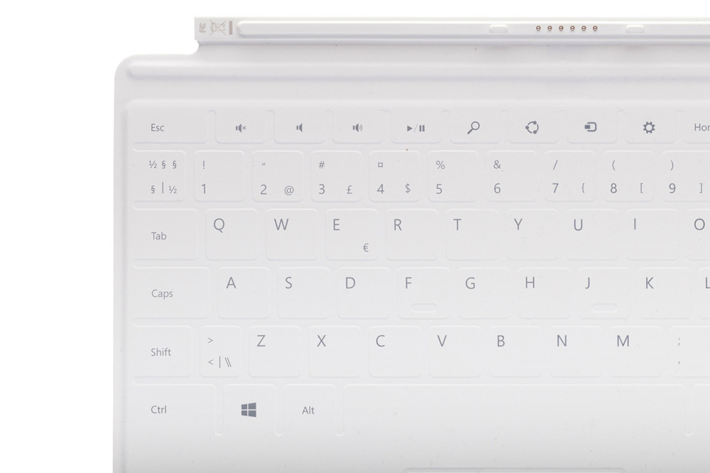 Tastatur Microsoft Surface Touch Cover 1 Weiß QWERTY Nordisch Grade A