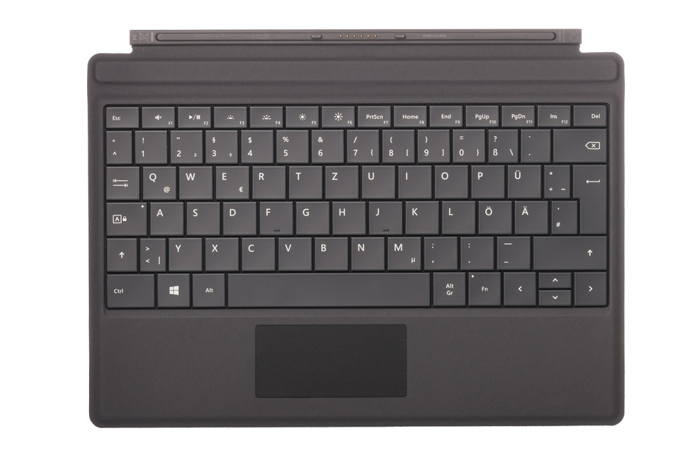 Tastatur Microsoft Surface Type Cover 3 Schwarz QWERTZ Deutsche Grade UND