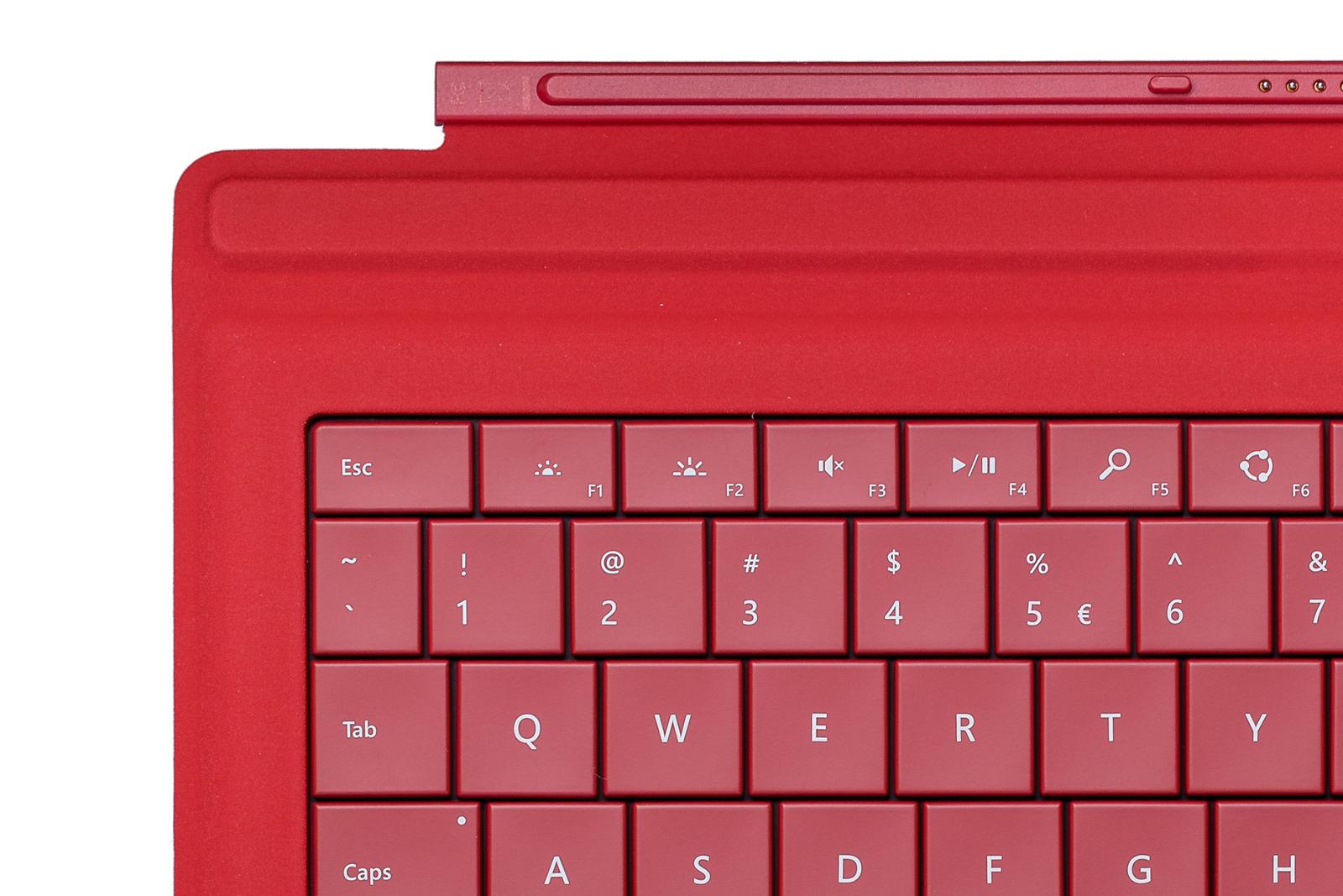 Tastatur Microsoft Surface Type Cover Pro 3 Rot QWERTY UK105 Grade B