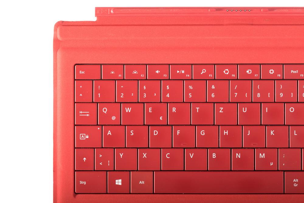 Tastatur Microsoft Surface Type Cover Pro 3 Rot QWERTZ Deutsche Grade B
